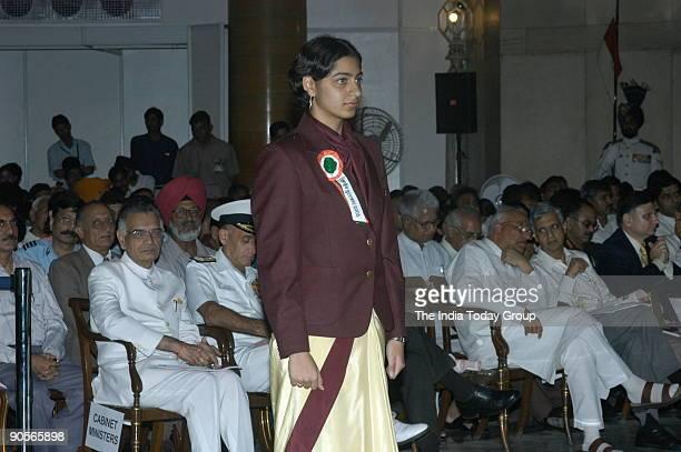 Shikha Tandon winners of the Arjuna Award at Sports and Adventure Awards2005 function in New Delhi India