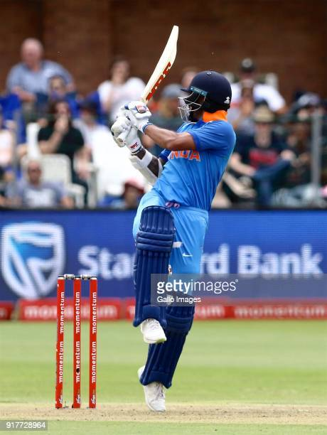 Shikhar Dhawan of India during the 5th Momentum ODI match between South Africa and India at St Georges Park on February 13 2018 in Port Elizabeth...