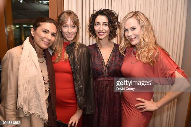 Shila Ommi Alexis Sterling Necar Zadegan and Tara Emerson attend A Conversation with the Center for Reproductive Rights at Private Residence on...