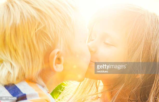 Сhildren kissing