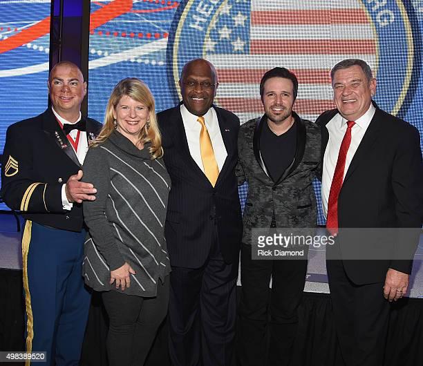 Shilo Harris, Chairman Emeritus Meredith Iler, Recipient of The Patriot Award Herman Cain, Singer/Songwriter Mark Wills and Executive Director...