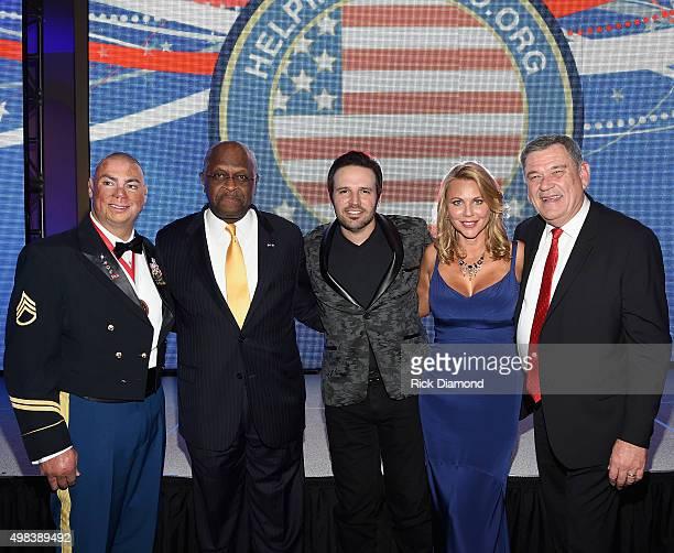 Shilo Harris, Recipient of The Patriot Award Herman Cain, Singer/Songwriter Mark Wills, 60 Minutes Correspondent/Mistress of Ceremonies Lara Logan...