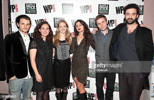Shiloh Fernandez director Daniella Topol Marin Ireland playwright Martyna Majok Josiah Bania and Morgan Spector attend the 'Ironbound' Opening Night...