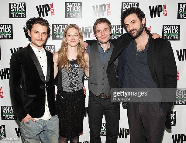 Shiloh Fernandez Marin Ireland Josiah Bania and Morgan Spector attend the Ironbound Opening Night at Rattlestick Playwrights Theater on March 16 2016...