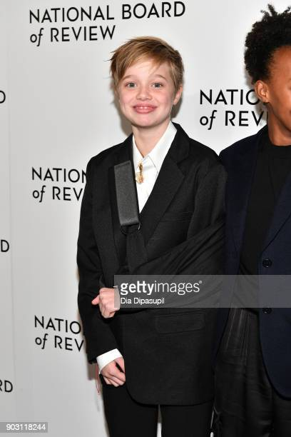 Shiloh JoliePitt attends the 2018 National Board of Review Awards Gala at Cipriani 42nd Street on January 9 2018 in New York City