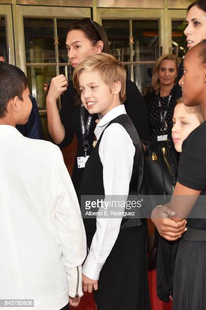Shiloh JoliePitt attends the First They Killed My Father premiere during the 2017 Toronto International Film Festival at Princess of Wales Theatre on...