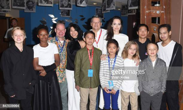 Shiloh JoliePitt Zahara JoliePitt Peter Sellars executive producer and screenwriter Loung Ung actor Kimhak Mun Chief Content Officer for Netflix Ted...
