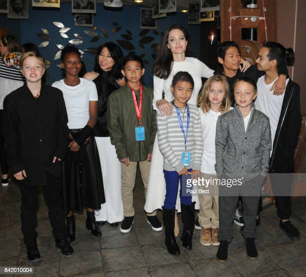 Shiloh JoliePitt Zahara JoliePitt Peter Sellars executive producer and screenwriter Loung Ung actor Kimhak Mun Chief Content Officer for Netflix Ted...