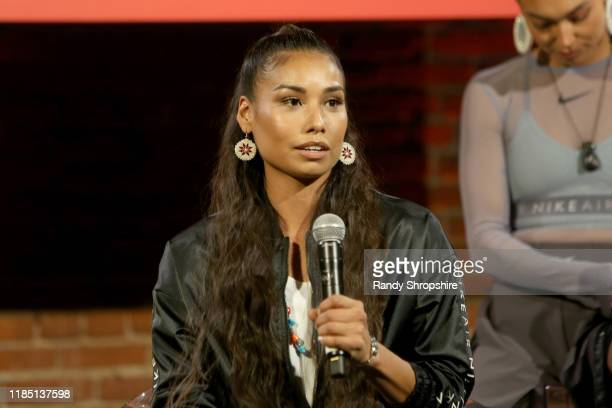 Shiloh Lebeau speaks on stage at the Teen Vogue Summit 2019 at Goya Studios on November 02 2019 in Los Angeles California