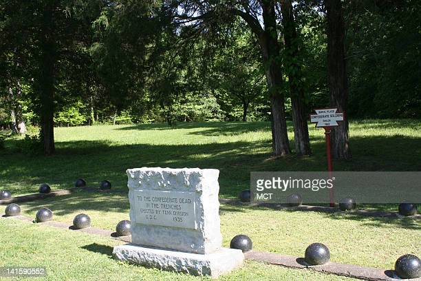 Shiloh means place of peace but it was anything but that in April of 1862 when 24000 men lost their lives in battle A marker denotes the graves of...