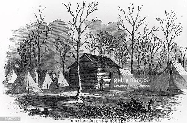 Shiloh Meeting House which gave its name to Battle of Shiloh 6 April 1862 during American Civil War