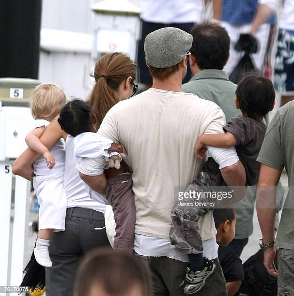 Shiloh Nouvelle Zahara Angelina Jolie Brad Pitt Pax and Maddox sighted boating at Lake Michigan on August 18 2007 in Chicago Illinois