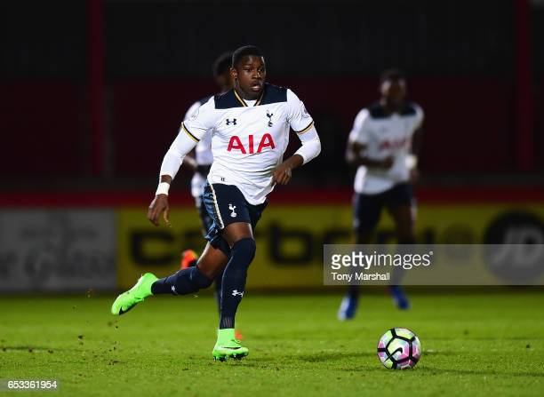Shilow Tracey of Tottenham Hotspur during the Premier League 2 match between Tottenham Hotspur and Reading at The Lamex Stadium on March 13 2017 in...