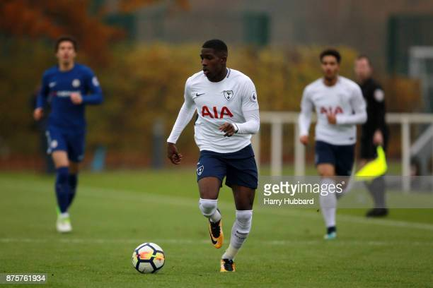 Shilow Tracey of Tottenham Hotspur in action during a Premier League 2 match between Tottenham Hotspur and Chelsea at Tottenham Hotspur training...