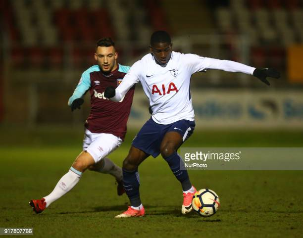 Shilow Tracey of Tottenham Hotspur U23s during Premier League 2 Division 1 match between West Ham United Under 23s and Tottenham Hotspur Under 23s at...