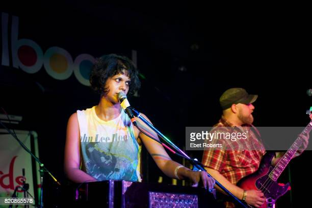 Shilpa Ray and Nick Hundley of Shilpa Ray and Her Happy Hookers performing at Buffalo Billiards at the South by Southwest Music Festival in Austin...