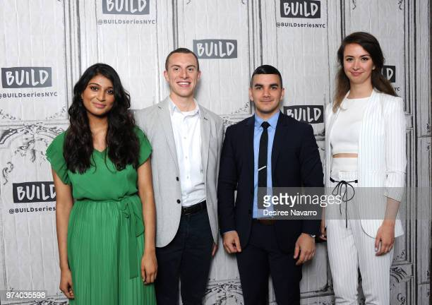 Shilpa Yarlagadda Ben Conard Amir Ashour and Bozhanka Vitanova visit Build Series to discuss 'One Young World' at Build Studio on June 13 2018 in New...