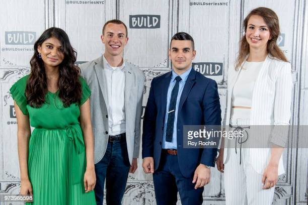 Shilpa Yarlagadda Ben Conard Amir Ashour Bozhanka Vitanova discuss One Young World with the Build Series at Build Studio on June 13 2018 in New York...