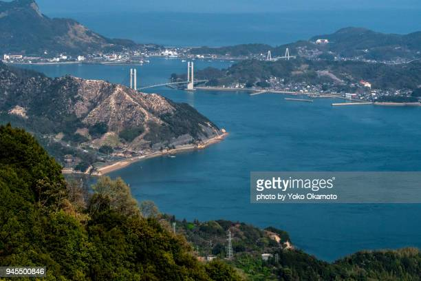 Shimanami Road that bridges the island of island with a bridge
