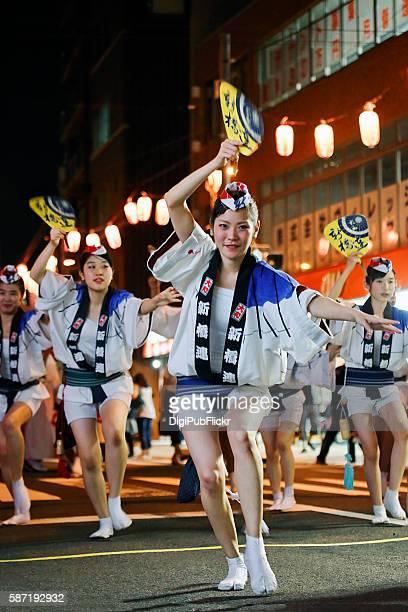 shimbashi-ren at the 40th kanagawa yamato awaodori dance festival - awa dance festival stock photos and pictures