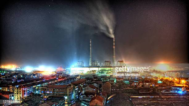 shimen city at night - jakob montrasio stock pictures, royalty-free photos & images
