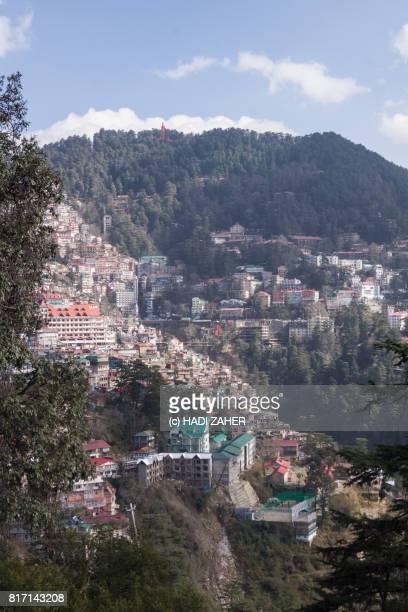 shimla city   himachal pradesh   india - shimla stock pictures, royalty-free photos & images