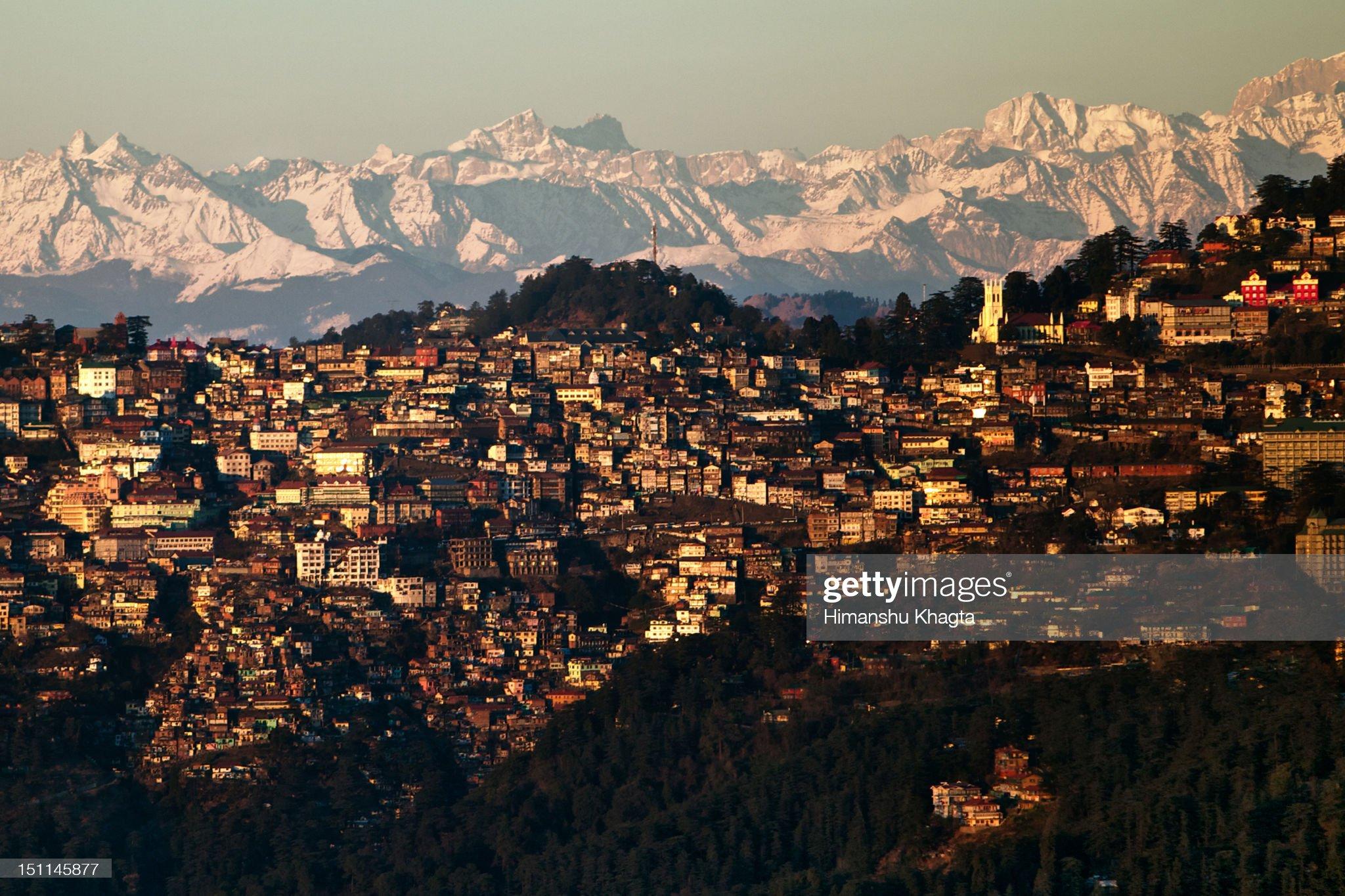 Shimla sunset cityscape, Himachal Pradesh -travel in India after lockdown