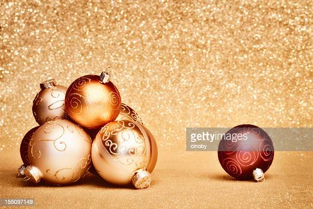Shimmering Christmas baubles
