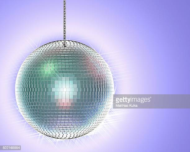 shimmering disco ball - disco ball stock photos and pictures