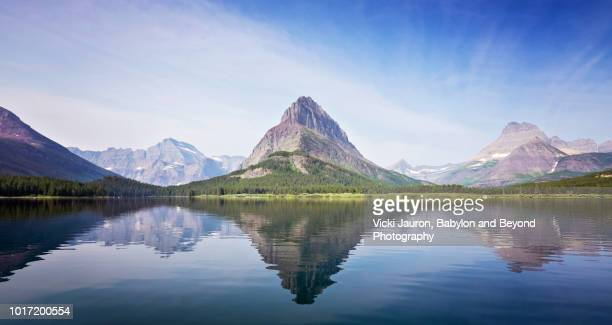 Shimmering Reflections on Swiftcurrent Lake at Many Glacier Hotel, Montana