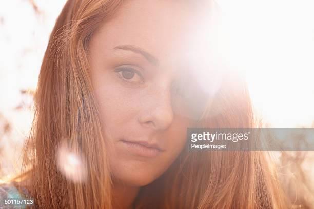 Shimmers of golden light
