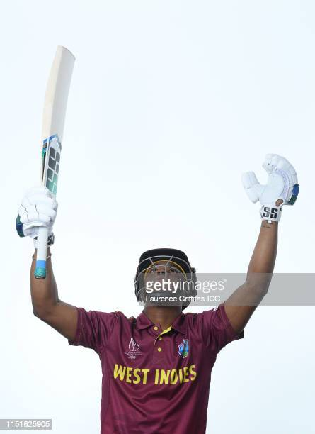 Shimron Hetmyer of West Indies poses for a portrait prior to the ICC Cricket World Cup 2019 at The Radisson Blu Hotel on May 25, 2019 in Bristol,...