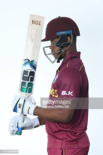 Shimron Hetmyer of West Indies poses for a portrait prior to the ICC Cricket World Cup 2019 at The Radisson Blu Hotel on May 25 2019 in Bristol...