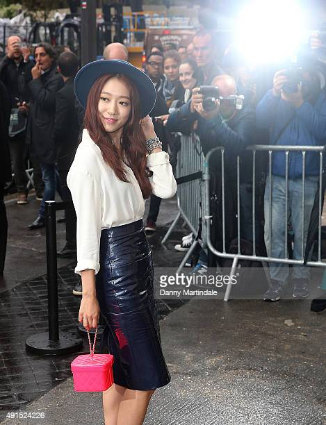 Shin Hye Park attends the Chanel fashion show at the Grand Palais on October 6 2015 in Paris France