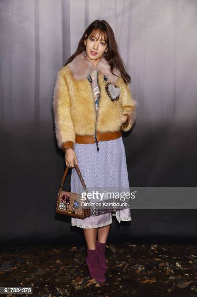 Shin Hye Park attends the Coach Fall 2018 Runway Show at Basketball City on February 13 2018 in New York City