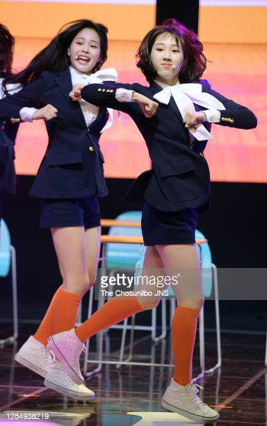 Shin Ji-Yoon of Weeekly during Weeekly's First Mini Album Debut Showcase at Shinhan FAN Square on June 30, 2020 in Seoul, South Korea.