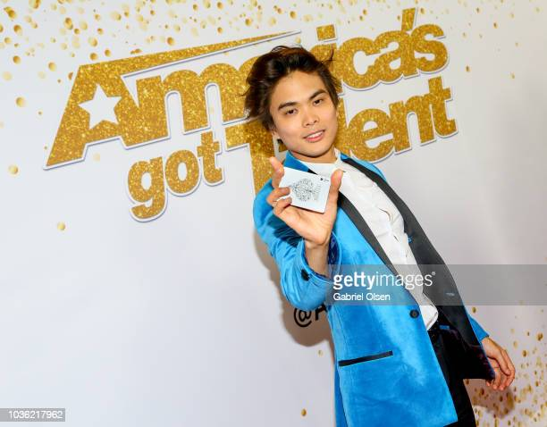Shin Lim attends the 'America's Got Talent' Season 13 Finale Live Show red carpet at Dolby Theatre on September 19 2018 in Hollywood California
