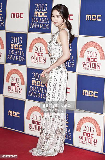 Shin SeGyeong arrives at the red carpet of the 2013 MBC drama awards at the MBC Open hall on December 30 2013 in Seoul South Korea