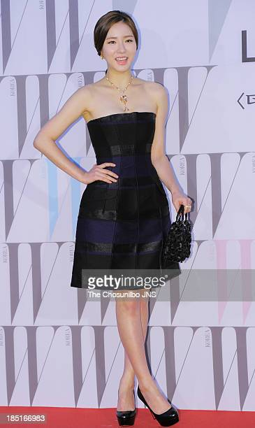 Shin SeGyeong attends the W Korea Breast Cancer Campaign 'Love Your W' at Fradia on October 17 2013 in Seoul South Korea