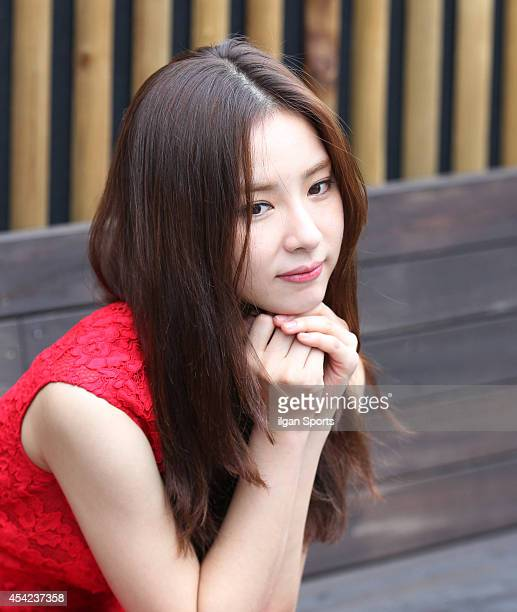 Shin SeGyeong poses for photographs on August 26 2014 in Seoul South Korea