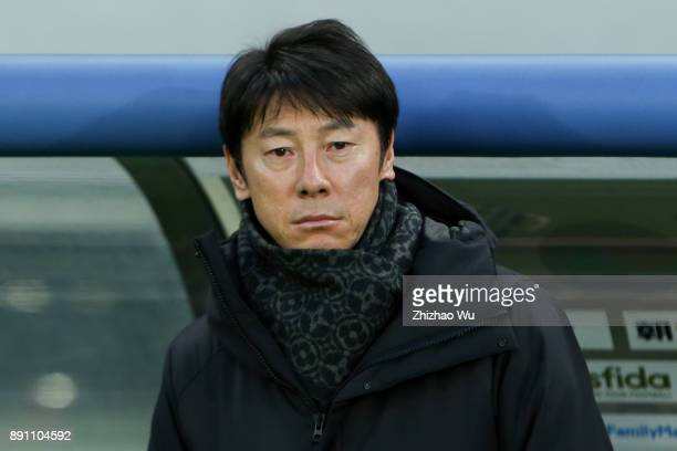 Shin Taeyong head coach of South Korea in action during the EAFF E1 Men's Football Championship between North Korea and South Korea at Ajinomoto...