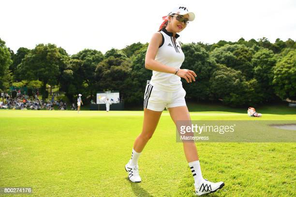 ShinAe Ahn of South Korea walks during the third round of the Earth Mondamin Cup at the Camellia Hills Country Club on June 24 2017 in Sodegaura Japan