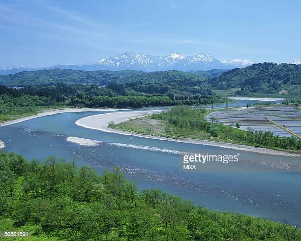 Shinano River in Niigata, Japan