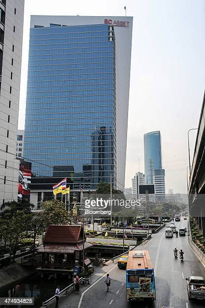 Shinawatra Tower III which houses the headquarters of SC Asset Corp controlled by Prime Minister Yingluck Shinawatra's family stands in Bangkok...