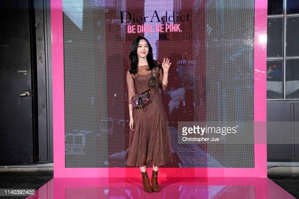 ShinBi of girl goup Girl Friend aka GFrand attends Dior Addict Stellar Shine launch at Layers 57 on April 04 2019 in Seoul South Korea