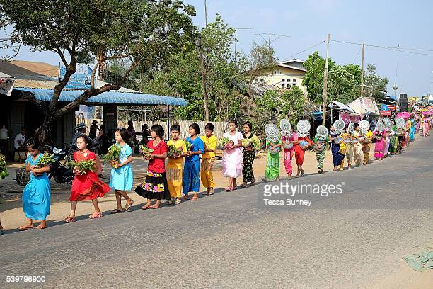 Shinbyu Novice Ceremony on 21st March 2016 in Mo Bye village Shan State Myanmar In Myanmar it is customary for boys to enter the monastery as a...