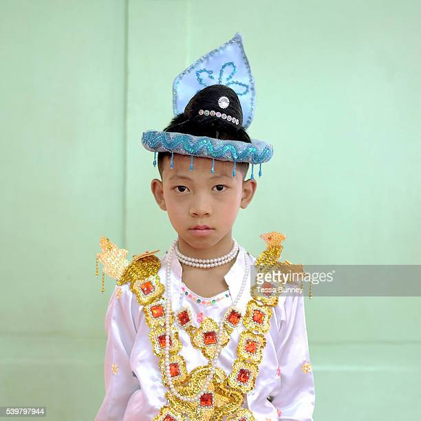 Shinbyu Novice Ceremony on 25th March 2016 in Loikaw Kayah State Myanmar In Myanmar it is customary for boys to enter the monastery as a Buddhist...