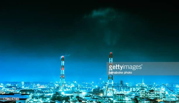 shine factory area - 北九州市 ストックフォトと画像