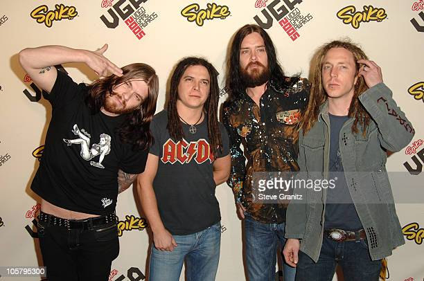 Shinedown during 2005 Spike TV Video Game Awards Arrivals at Gibson Amphitheater in Universal City California United States