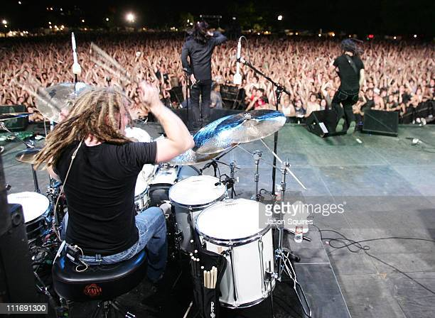 Shinedown during KQRC's Rockfest 2005 Kansas City at Liberty Memorial in Kansas City Missouri United States